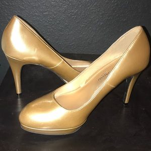 Cute gold high heels